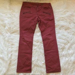 {ANTHRO}PILCRO No.30 RED MOTO ZIPPER POCKET PANTS